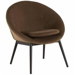 Fauteuil RUVANA Marque Hanjel Siège de Salon Chaise en Pin et Velours Weimar 58,5x69x72cm