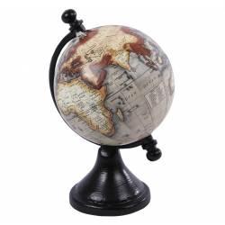 Mignonne Petite Mappemonde Globe Terrestre Décoratif Rotatif Planisphère sur Pied Carte Ronde 8x8x14,5cm