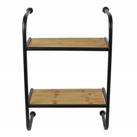 tag re murale meuble de rangement echelle en bois et fer. Black Bedroom Furniture Sets. Home Design Ideas