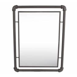Miroir Mural Industriel Glace Rectangulaire en Fer 2x41x55cm