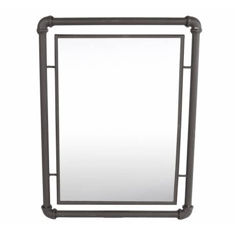 Miroir mural industriel glace rectangulaire en fer 2x41x55cm l 39 h ritier du temps for Miroir mural industriel