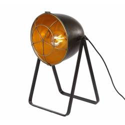 Lampe Studio à Poser sur Pied Luminaire Design Orientable à Poser de Bureau de Salon Patiné Gris-Noir 24x28x42cm