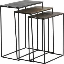 Set de 3 Consoles IBIZA Tables D'Appoint Hanjel en Métal 3 Tailles