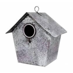 Maisonnette pour Oiseaux Nichoir à Oiseau Cabane pour Animaux en Fer 10x15x15cm