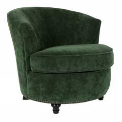 Fauteuil Lounge Freux Dutchbone Style Vintage en Velours Vert Empire 73x80x83cm
