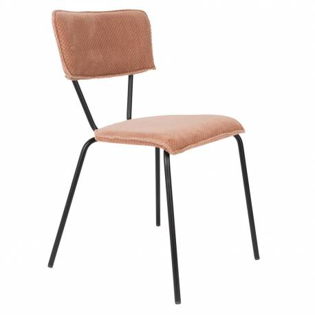 chaise velours melonie dutchbone vintage tendance si ge de table rose poudr 51x54x81 5cm l. Black Bedroom Furniture Sets. Home Design Ideas