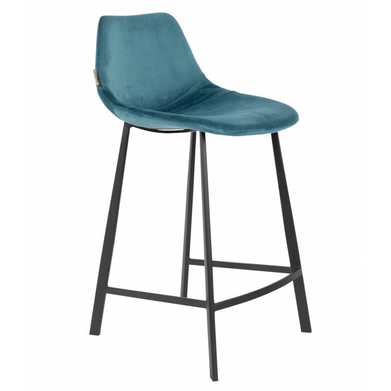 chaise de bar velours franky dutchbone vintage tendance. Black Bedroom Furniture Sets. Home Design Ideas