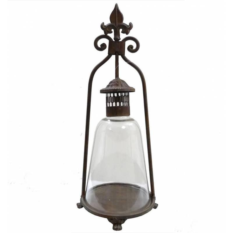 Lanterne ancienne poser marron l 39 h ritier du temps - Lanterne exterieur a poser ...