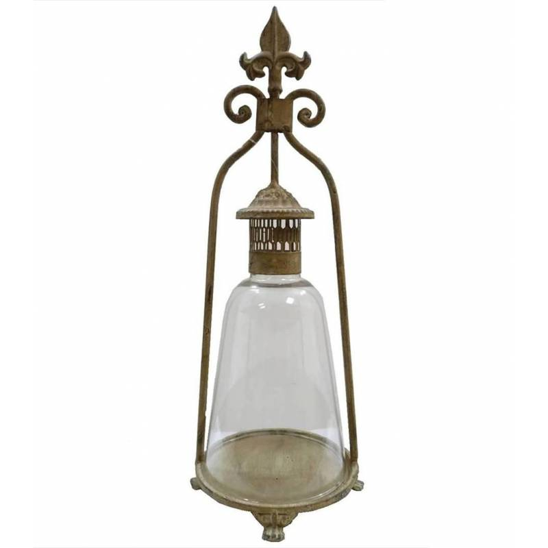 Lanterne bougeoir poser ou lampe temp te lampe huile for Lanterne a poser exterieur