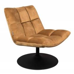 Fauteuil Velours Vintage Design Lounge Bar Dutchbone Tendance Siège de Salon Or Gold 66x78x81cm