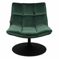 Fauteuil Velours Vintage Design Lounge Bar Dutchbone Tendance Siège de Salon Vert Empire 66x78x81cm