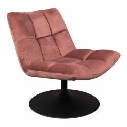 Fauteuil Velours Vintage Design Lounge Bar Dutchbone Tendance Siège de Salon Rose Poudré 66x78x81cm
