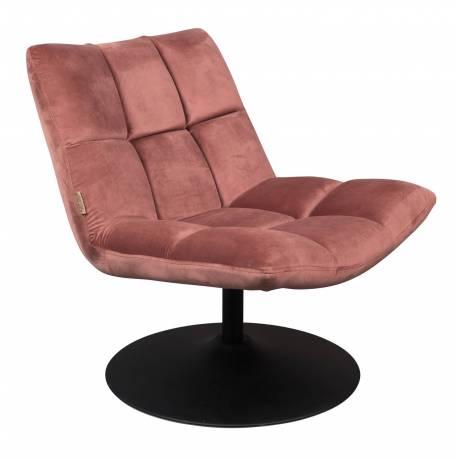 Fauteuil velours vintage design lounge bar dutchbone tendance si ge de salon rose poudr - Salon rose poudre ...