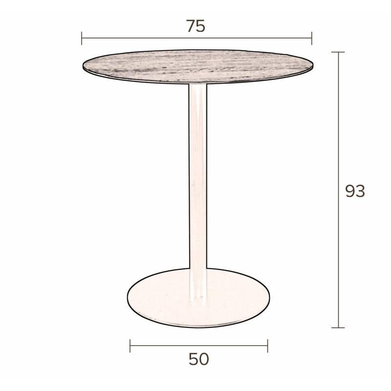 Table De Bar Ronde Haute: Mange Debout Braza Dutchbone Table Haute Ronde Bar Design