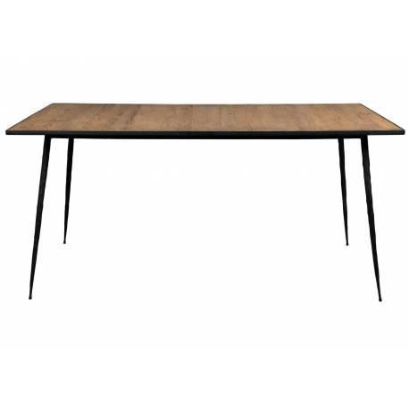 Table Pepper Dutchbone Table de Salle à Manger Forme Rectangulaire 4 6 Personnes en Acier et Bois 75x90x160cm