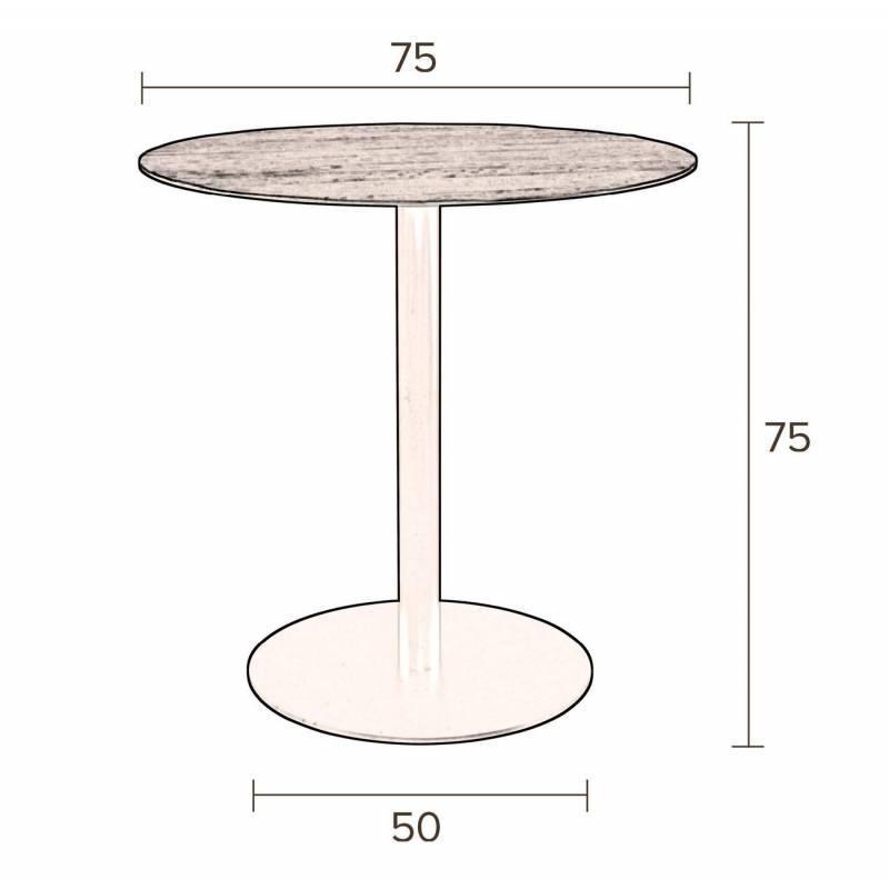table ronde noire braza dutchbone table de repas salon. Black Bedroom Furniture Sets. Home Design Ideas