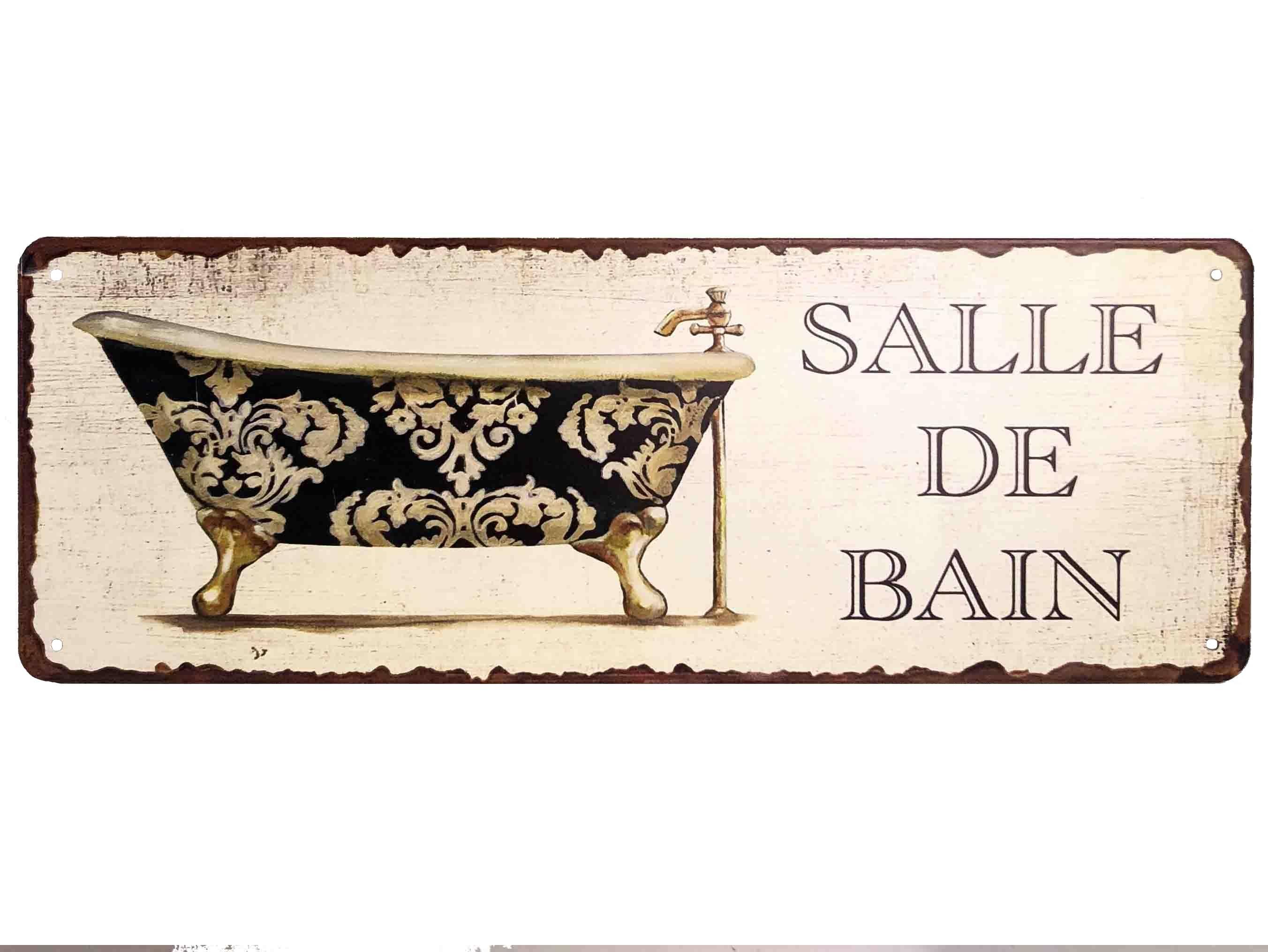 Salle De Bain Plaque plaque murale rectangulaire nominative enseigne de porte