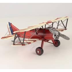 Petite Miniature Avion de Guerre Réplique Biplan Maquette Aerienne Empire Japonais Soleil Levant en Métal Multicolore 11x26x32cm