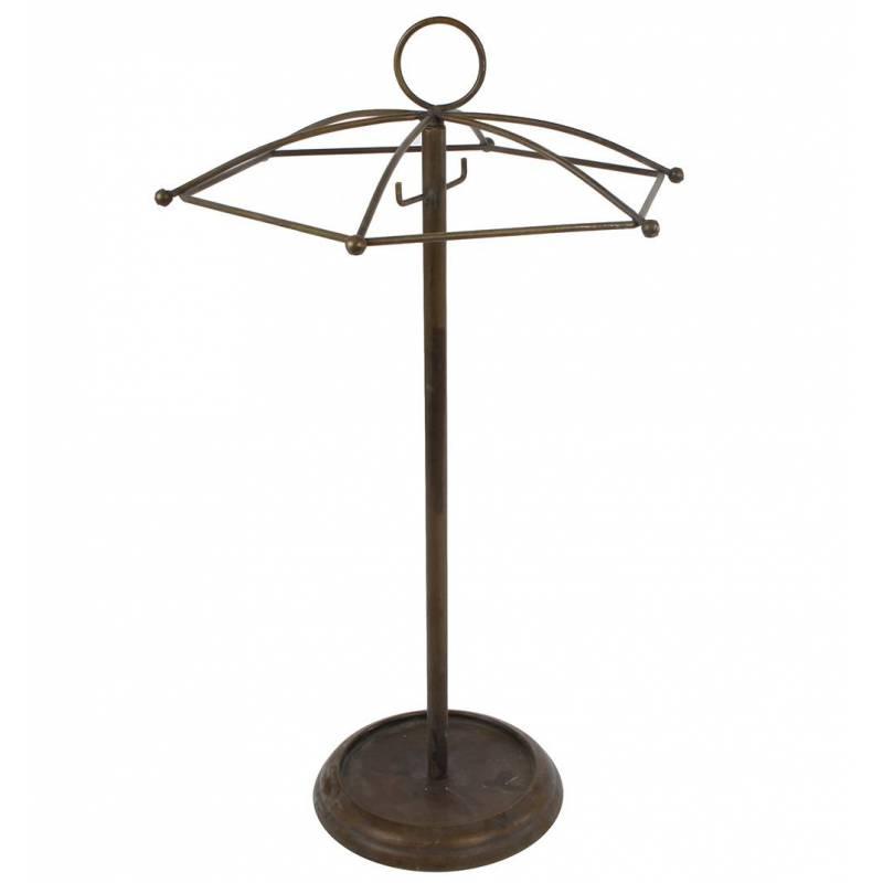 Porte parapluie accessoire d 39 entr e range parapluies int rieur ext rieur en m tal patin laiton - Porte parapluie exterieur ...