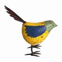 Oiseau Oisillon Représentation de Volatile en Fer Métal Objet Décoratif Coloré Intérieur Extérieur Coloris au Choix 7x15,5x15,cm