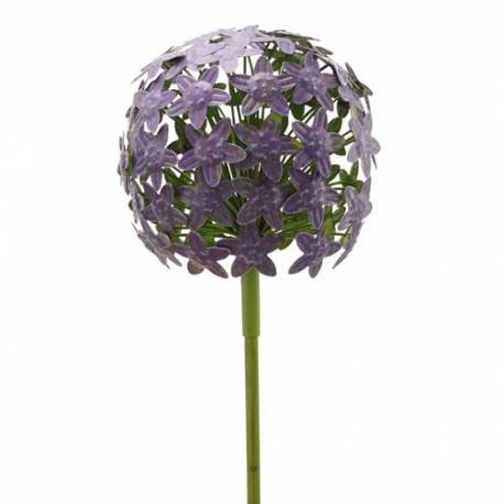 Violet Sur Pot D'allium Décoration En Métal Florale Ou Coloré Vert Pour 20x20x116cm Fleur Et Massif Tige De Jardin mPyvN0O8nw