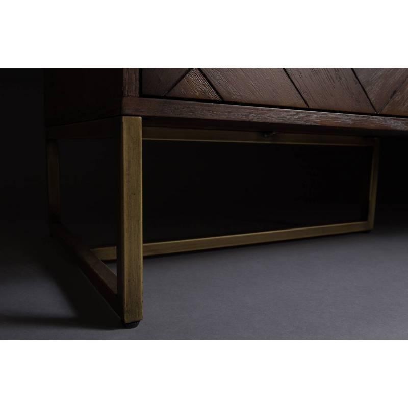 meuble tv class meuble de rangement console salon design industriel vintage en acier laiton dor. Black Bedroom Furniture Sets. Home Design Ideas