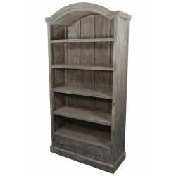 Grande Bibliothèque Meuble de Rangement Vitrine Vaisselier en Bois à 5 Etages 41x101x198cm