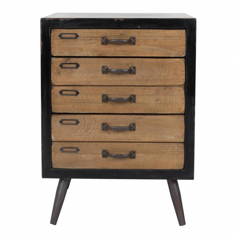 petite console sol dutchbone meuble tiroirs salon rectangulaire design vintage industriel en. Black Bedroom Furniture Sets. Home Design Ideas