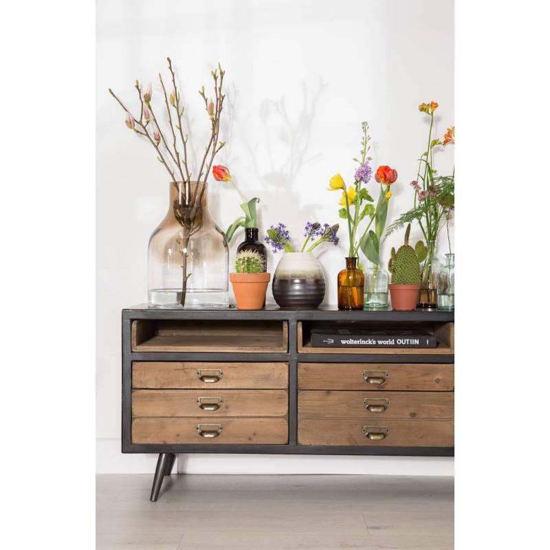 meuble tv sol dutchbone console tiroirs salon. Black Bedroom Furniture Sets. Home Design Ideas