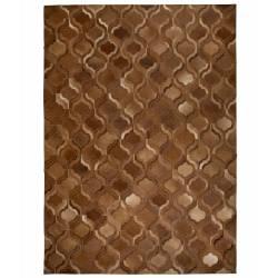 Tapis Bawang Dutchbone Carpette Salon Tapisserie Fait Main Cuir Véritable Vache 0,4x170x240cm