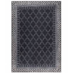 Tapis Kasba Dutchbone Carpette Salon Tapisserie Fait Main Tissu Laine Sombre 0,8x170x240cm