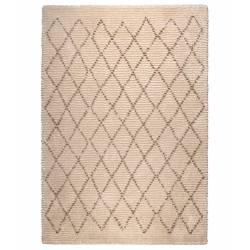 Tapis Berbère Jafar Dutchbone Carpette Salon Tapisserie Tissu Synthétique Beige 3 Tailles