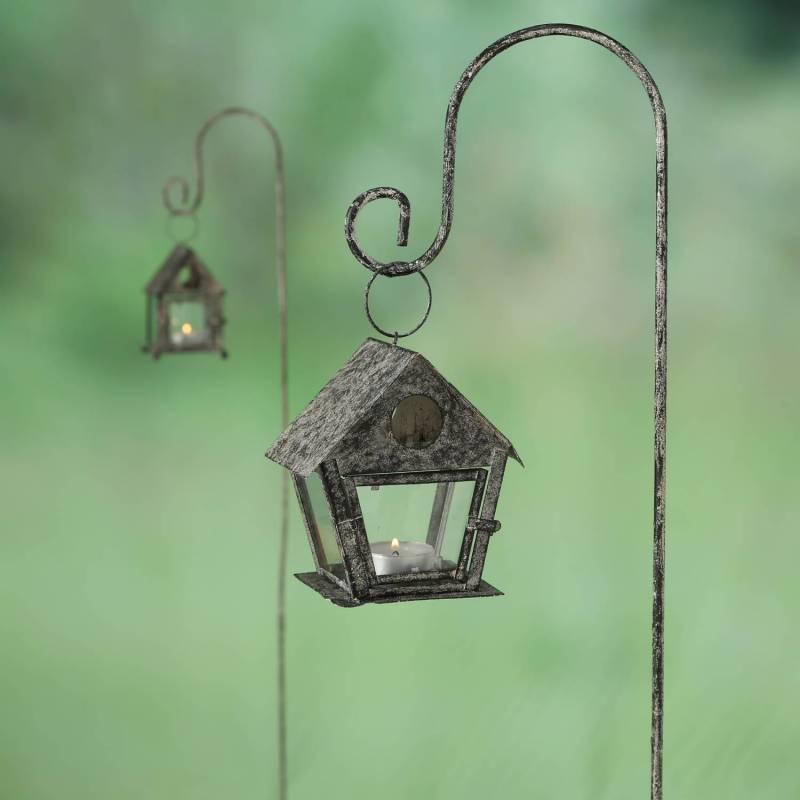 grand tuteur plantes lanternes ou pic de jardin avec. Black Bedroom Furniture Sets. Home Design Ideas