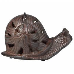 Statuette Escargot ou Animal Décoratif à Poser en Fonte Patinée Marron 10x16,5x16,5cm