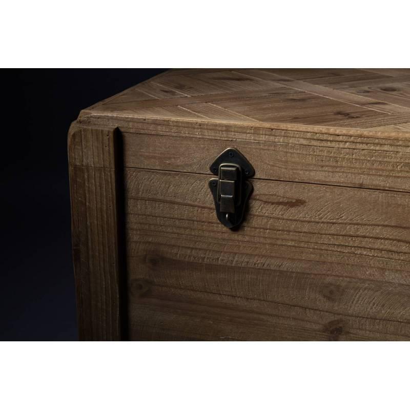 Coffre de Rangement Bar à Bouteilles Table Basse Bout de Lit Range Jouets en Bois 39x57x87cm - L ...