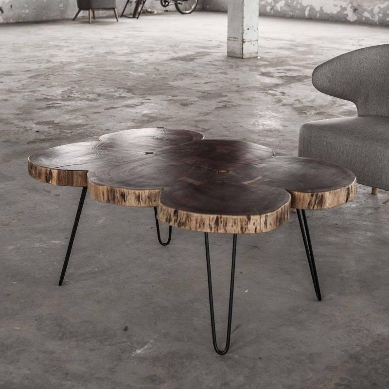 Table Basse Tronc Hinsk Console de Salon Tablette d\'Appoint ...