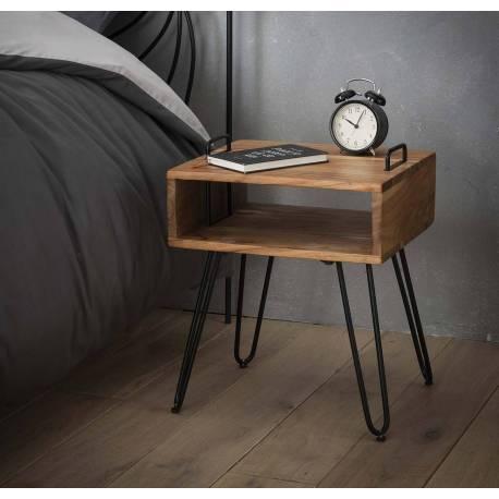chevet quadro hinsk table de nuit industriel bout de. Black Bedroom Furniture Sets. Home Design Ideas
