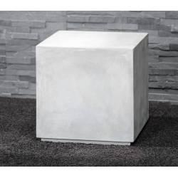 Bout de Canapé Carré Block Hinsk Sellette Tablette d'Appoint Guéridons en Ciment 40x40x40cm
