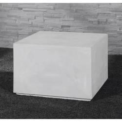 Bout de Canapé Rectangulaire Block Hinsk Sellette Tablette d'Appoint Guéridons en Ciment 40x60x60cm