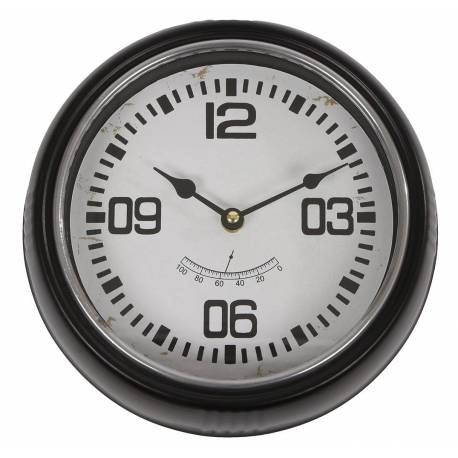 grande horloge ronde pendule murale vintage industriel en. Black Bedroom Furniture Sets. Home Design Ideas