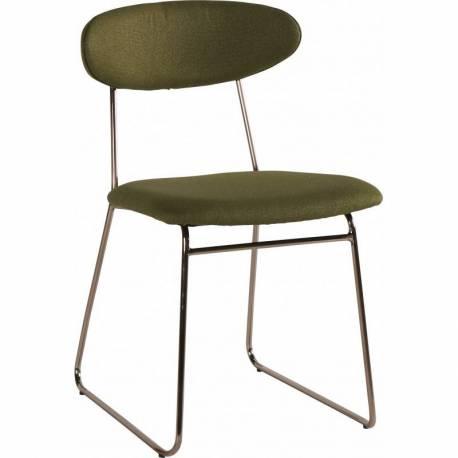 Chaise 49x56x77 Kaki Séjour Design Fauteuil Métal Et Assise 5cm Tissu Scandinave Siège Montréal En 0PXwkNn8O