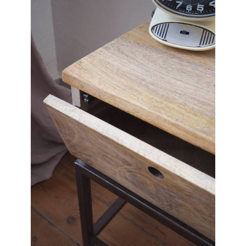 Chevet Double Zéro Guibox Console Dappoint Table De Nuit 1 Tiroir