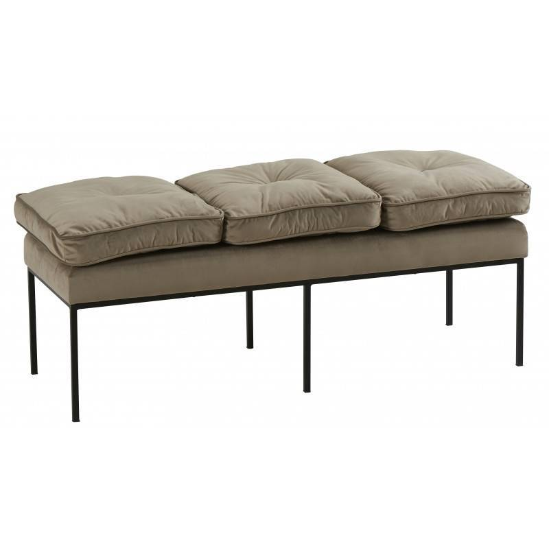 banc nirva marque hanjel banquette bout de lit look r tro. Black Bedroom Furniture Sets. Home Design Ideas