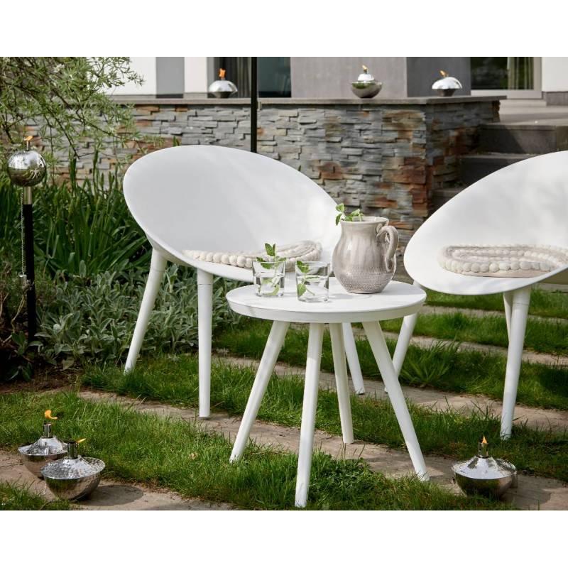 Salon de jardin moderne salon de th 2 places personnes contemporain table bistrot et 2 chaises - Table de jardin moderne ...
