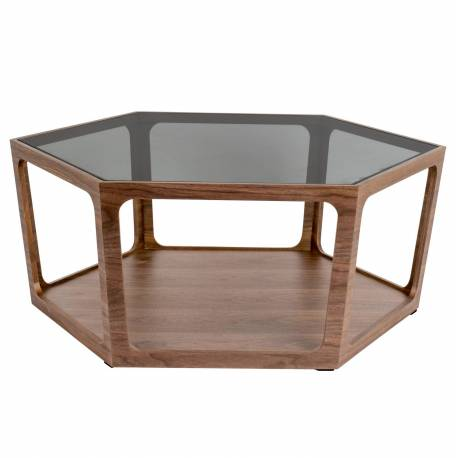 Table Basse Sita Dutchbone Console De Salon Forme Hexagonale Bois