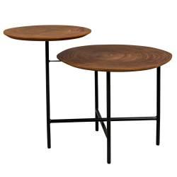 Bout de Canapé Mathison Dutchbone Sellette Tablette d'Appoint Guéridon Table Basse 48,5x54x75cm