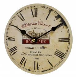 Mini Horloge Style Industriel Bois