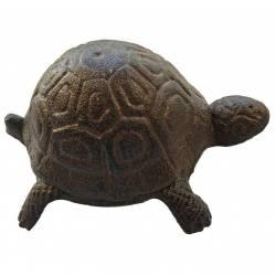 Tortue à Poser Cache Clé Clef Sculpture en Fonte Patinée Marron 5,5x8,5x10,5cm