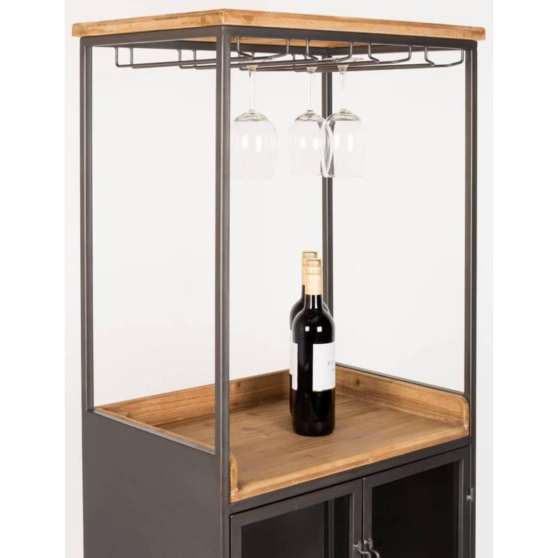 Meuble de cuisine damian cave vin woody tag re de rangement indus 40x60x171cm l 39 h ritier du - Meuble cave a vin ...