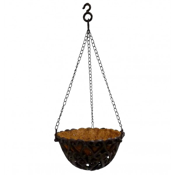 Porte Plante Fonte & Fibre de Coco